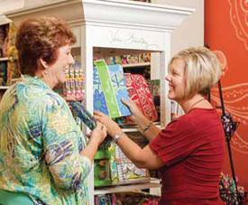 Linda Williams and Pam Ames at their local store, The Peddler's Boutique